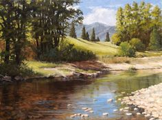 Beautiful, peaceful scenery.  sylvia+huber+gaensslen+artwork | How do you paint water? - Part 1 | Ginger Whellock - Blog
