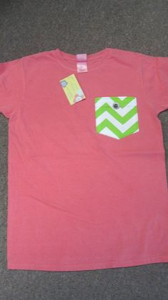 Chevron pocket tee - $28 exclusively at Harmonie Boutique in Starkville!