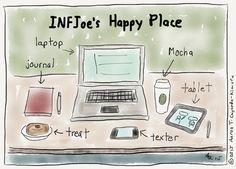 My Happy Place. INFJ Cartoon from http://infjoe.wordpress.com.