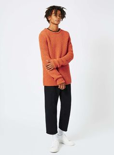 LTD Orange Oversized Chunky Knit Jumper