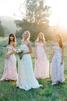 12 Pretty Perfect Pastel Bridesmaids Dresses