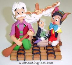 PinocchioPorcelana fria, pasta francesa, masa flexible, fimo, polymer clay, porcelain froid, modelado, figurine