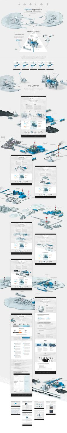 INFRA Technology Group, Site © Павел Дергачев #illustration #isometric #webdesign