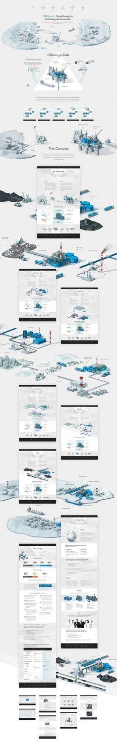 INFRA Technology Group, Site © ПавелДергачев #illustration #isometric #webdesign