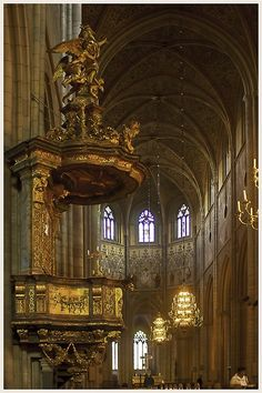 Medieval Pulpit, Upsala, Sweden by Jim Downs
