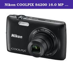 Nikon COOLPIX S4200 16.0 MP Digital Camera - Black. Nikon factory refurbished products have been restored to factory specification of brand new operating condition and carry a 90-day Nikon Warranty. These product have minimal or no signs of prior use and are in mint or near mint condition. Capture the moment in style.Create your best photos and HD movies yet with the stylish COOLPIX S4200. With 16 Megapixel CCD sensor, electronic Vibration Reduction (VR) image stabilization system…