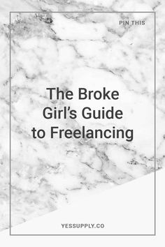 How to go freelance?, The Broke Girl's Guide to Freelancing, Guide to Freelancing, My Secrets To Becoming A Successful Freelancer, How To Prepare Yourself To Quit Your Job And Go Freelance, Emma Lenhart, yes supply, yes supply co, yes supply insiders, reese evans