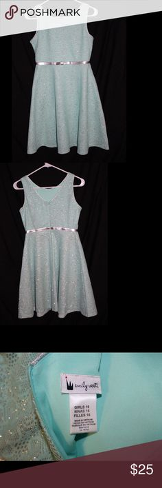 NWOT Beautiful Emily West Blue & Silver dress NWOT Size 16 girls dress. My daughter took the tags off when she tried it on (after I bought it) and it didn't fit. She also didn't tell me it didn't fit until the day of the event it was bought for... so I couldn't return it. My loss is your gain! Emily West Dresses Formal
