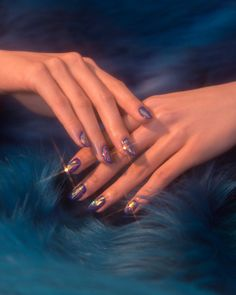 """cschoonover: """" Outtake from Nylon Magazine April 2016 Issue by Chris Schoonover Nails by Fleury Rose """" Nail Art Designs, Flower Nail Designs, Nails Design, Design Art, Design Ideas, Cute Nails, Pretty Nails, My Nails, Shellac Nails"""