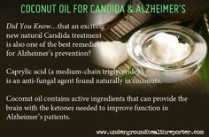 Coconut oil as an anti-fungal and Alzheimer's treatment