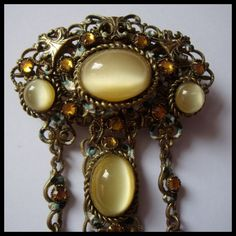 Vintage ART DECO brooch CZECH art deco CZECHOSLOVAKIA bohemian FILIGREE baroque | eBay