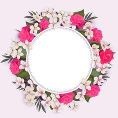 Print and cut Flower Backgrounds, Flower Wallpaper, Wallpaper Backgrounds, Iphone Wallpaper, Frame Floral, Flower Frame, Flower Art, Molduras Vintage, Page Borders Design
