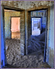 One day a giant went to play in the Namibian desert. He made a toytown village out of bits of things he found lying around; Abandoned Buildings, Abandoned Places, Arrow Of Time, African Love, Namibia, Ghost Towns, Where To Go, Great Photos, Beautiful Places