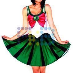 Vestido de licra de #SailorJúpiter #cosplay #SailorMoon #fkb