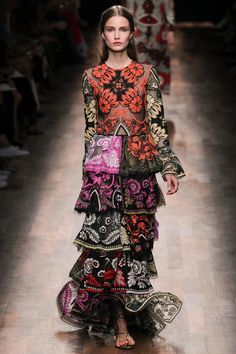 Valentino Floral Pattern Dress