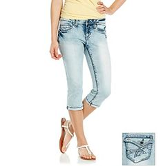 Product: Hydraulic® Juniors' Flap Back Pocket Cropped Jeans