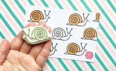 snail rubber stamp woodland animal stamp birthday card