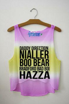 Boo bear = Louis Tomlinson Nialler=Niall Horan Daddy Direction=Liam Payne Hazza = Harry Styles Bradford bad boi= Zayn Malik