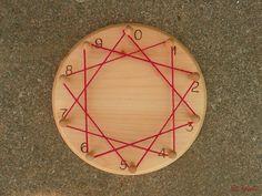 Back to School - Skip Counting Multiplication Board  - Math Waldorf, Montessori  - Educational Toy, Homeschool