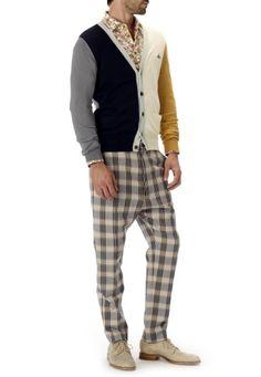 Block Knitwear Cardigan