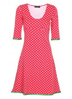 Stella dress-Dots rød