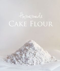Recipe calls for Cake flour and you don't have any?  Here is the substitution for Homemade Cake Flour:  Ingredients (1) cup flour,  2 tablespoons corn starch.  Instructions:  Measure out one cup of AP flour.  Remove two tablespoons flour from the cup. Add in two tablespoons of cornstarch. Sift together.