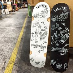 The SalbaxGonz serie skateboard decks by Santa Cruz #skateboard #blackandwhite