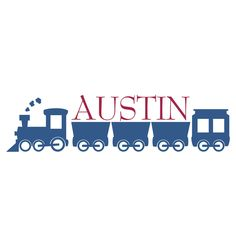 Personalized Train Wall Decal - Locomotive & Name Wall Decal for Boy Baby Nursery Toddler Room Vinyl Wall Art 10H x 36W BN013. $29.95, via Etsy.