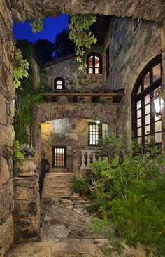 Rustic Italian Home Outdoor Spaces, Outdoor Living, Beautiful Homes, Beautiful Places, Casa Patio, Austin Homes, Austin Tx, Italian Home, Tuscan House