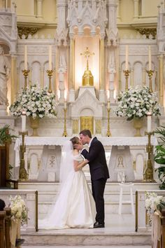 7 Traditional And Modern Wedding Ceremony Ideas For Your Wedding - Modern Wedding Ideas Wedding Ceremony Ideas, Church Wedding Flowers, Altar Flowers, Church Wedding Decorations, Wedding Altars, Altar Decorations, Church Ceremony, Wedding Vows, Wedding Centerpieces
