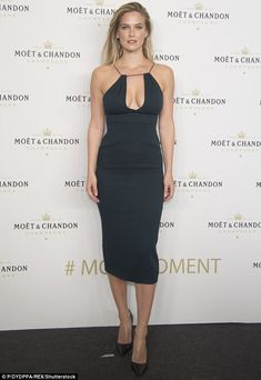 Glamour gal: Bar Rafaeli put her most fashionable foot forward when she stepped out in Madrid, Spain, on Tuesday night