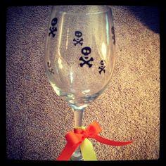 Skull wine glass