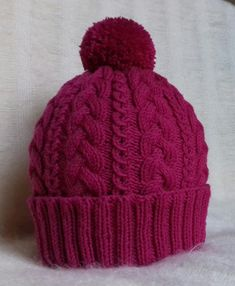 Cabled beanie knitting project by Mirka Crochet Yarn, Knitting Yarn, Baby Knitting, Blanket Crochet, Knitting Projects, Crochet Projects, Beanie Knitting Patterns Free, Cable Knit Hat, Paintbox Yarn