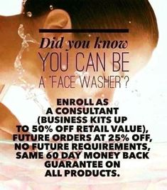 ❓DID YOU KNOW ❓ you can purchase Rodan & Fields products at the price I pay & NOT have to sell a thing? It's callled being a face washer. As a FACE WASHER you get to take advantage of purchasing an initial collection of product at 50% off & ongoing 25% discount Consultant pricing! Order WHEN you want WHAT you want at Wholesale pricing!!! Who doesnt like a 50% discount & ongoing Wholesale pricing delivered to your door w a 60 day guarantee!!  Message me!!!! https://giddyup.myrandf.com