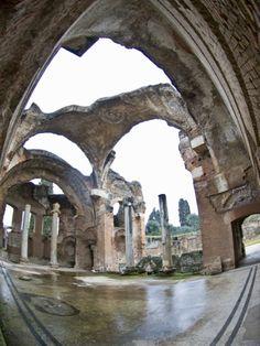 Ruined Dome of Hadrian's Villa, Tivoli, Lazio, Italy