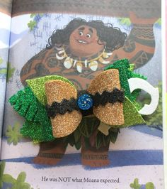 Items similar to Demigod of the Wind and Sea Bow on Etsy Diy Leather Bows, Disney Hair Bows, Fancy Bows, Custom Bows, Craft Foam, Foam Crafts, Making Hair Bows, Diy Bow, Diy Hair Accessories