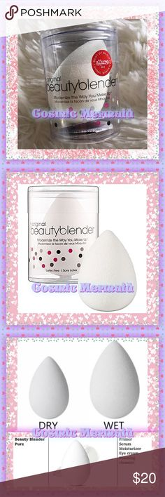 PURE❄️Beauty Blender❄️AUTHENTIC❤️NEW❤️PURE WHITE ❄️Pure White Beauty Blender❄️  Made especially for skincare & makeup application. Great for sensitive skin & to apply serums & moisturizers   beautyblender® pure® ~designed to ensure optimal application of the most advanced skin care   products.Say goodbye to spotty coverage,less penetration of product in key areas   (eyes, nose, etc.),& dirt traveling over freshly cleansed skin.Use with complexion products,   serums, eye treatments…
