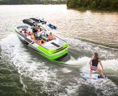 The 2016 Moomba Mojo is the flagship of the Moomba line. At a whopping 23 feet, it boasts all the room you need for every rider in your crew and an interior with all the comforts you'd expect from a class leading tow-boat. Powered by the Industry leading Raptor by Indmar6.2L engine and paired with Moomba's exclusive Auto-Flow system the Mojo makes waves that rival even the most expensive competitors.