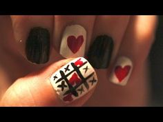 TicTacToe Nail Art -  Valentines Day