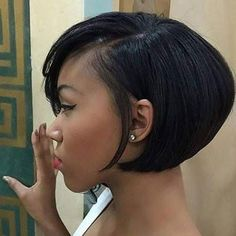 Best Short Hairstyles for Black Women 2018 – 2019 - The UnderCut : Side-Parted-Short-Haircut Best Short Hairstyles for Black Women 2018 – 2019 Short Bob Hairstyles, Black Women Hairstyles, Girl Hairstyles, American Hairstyles, Elegant Hairstyles, Pretty Hairstyles, Hairstyles Videos, Hairstyles 2018, Bob Haircuts