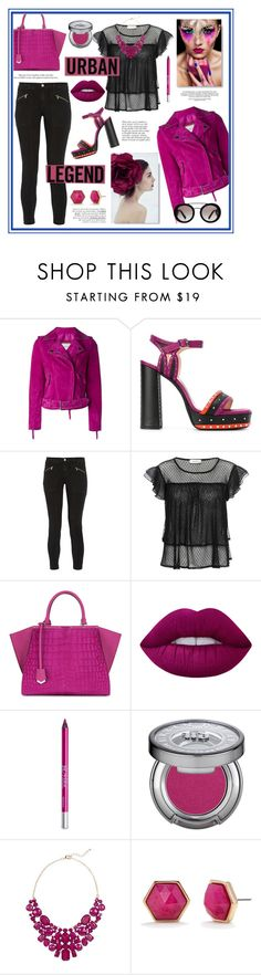"""""""The stuff of legend"""" by eereich ❤ liked on Polyvore featuring Lanvin, J Brand, Fendi, Anja, Lime Crime, Urban Decay, Eye Candy, Trina Turk and Prada"""