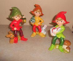Set of 3 Vintage Looking Homco Christmas Elf Pixie Figurines #5215 by VintageTrendyCharm on Etsy