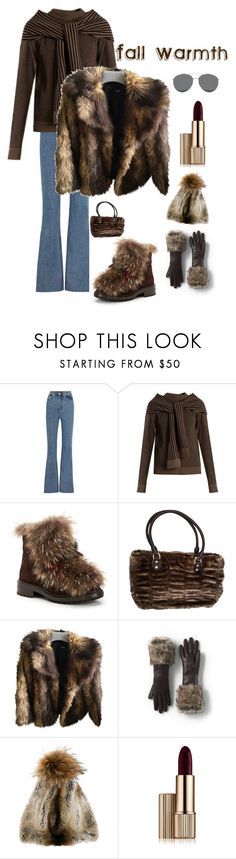 """""""A cold Fall Night look"""" by kotnourka ❤ liked on Polyvore featuring Solace, Isa Arfen, Aquatalia by Marvin K., ASOS, Lands' End, N.Peal, Estée Lauder and Gentle Monster"""