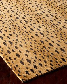"""""""Jaguar Dark"""" Rug by Safavieh at Horchow. Jaguar, Leopard Rug, Cheetah, Hand Tufted Rugs, The Ranch, Indoor Rugs, Carpet Runner, Hand Knotted Rugs, Handmade Rugs"""