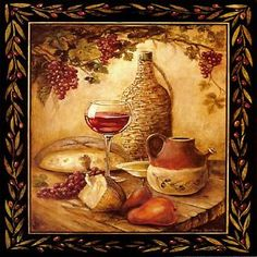 tuscan wine grapes i italian kitchen theme decor square coaster set of 4 - Italian Kitchen Decor