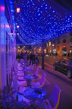 Cafe Le Marais, in Paris. Love the lighting