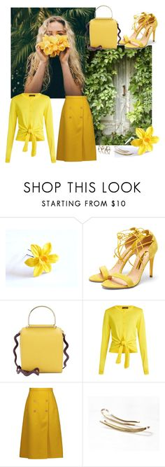 """""""Yellow Spring"""" by treasury ❤ liked on Polyvore featuring Rupert Sanderson, Roksanda, Dolce&Gabbana and Rochas"""