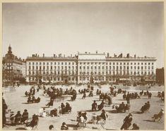 La Place Bellecour, dans les années 1940  Fonds : Jules Sylvestre (1859-1936)