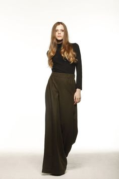 Casual Elastic Waist Wide leg Long Skirt Pants by Sophiaclothing