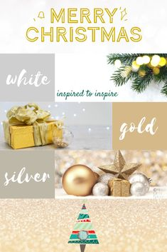 Find inspiration for adding those clean and crisp, bright and white, snuggly gold and silver festive vibes. Wishing you a Bright Festive Season! Silver Christmas, Merry Christmas, Busy At Work, Classic White, Christmas Themes, Sorting, Color Inspiration, Festive, Stage
